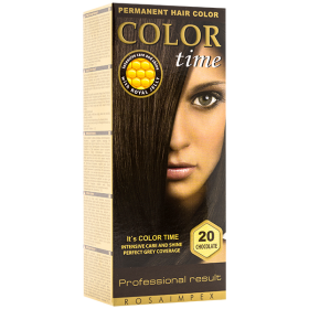 Color Time 20 Chocolate vopsea permanentă de păr - 100 ml