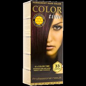Color Time 33 Aubergine vopsea permanentă de păr - 100 ml
