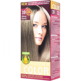 Aroma Color 39 Blond argintiu vopsea de păr - 90 ml