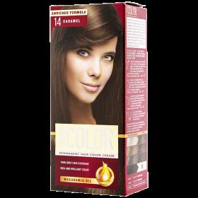 Aroma Color vopsea de par 14 Caramel - 90 ml