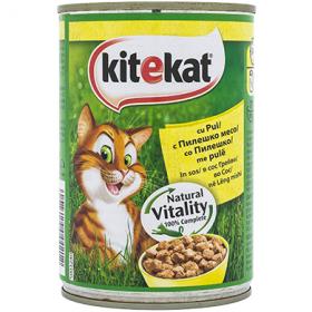 Kitekat conservă cu pui pentru pisici - 400 gr.