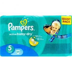 Pampers Active Baby-dry 5 (11-18 kg) scutece pentru copii – 64 buc