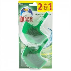 Duck Aqua Green odorizant pentru vasul de toaletă 1+1 gratis - 2x40g