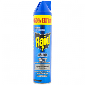 Raid-spray 600ml muste si tantari