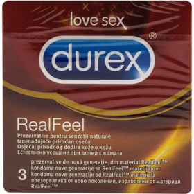 Durex-prezervative 3buc real feel