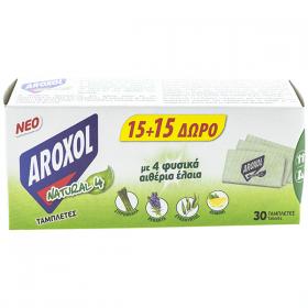 Aroxol Natural4 rezervă pastile laminate împotriva țânțarilor - 1 buc.