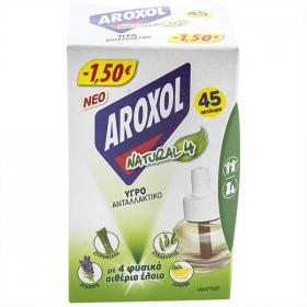 Aroxol Natural4 rezervă lichidă împotriva țânțarilor 22,5ml - 1 buc.