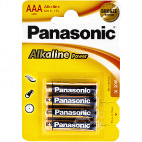 Panasonic Alkaline Power baterii AAA LR03 - 4 buc.