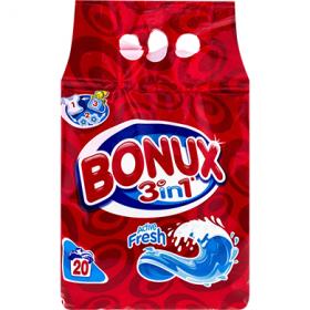 Bonux 3in1 Active Fresh detergent pentru rufe automat - 2 kg