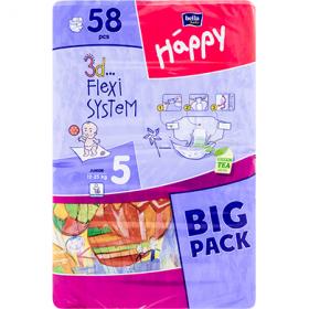 Happy Junior 5 (12-25 kg) scutece pentry copii – 58 buc