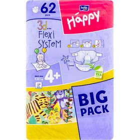 Happy Maxi Plus 4+ (9-20 kg) scutece pentru copii – 62 buc