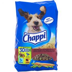 Chappi hrană uscată pentru câini adulți, cu vită, pasăre și legume - 500 gr