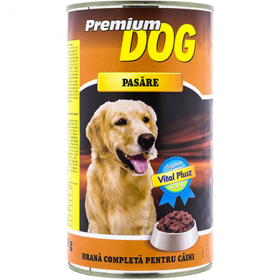 Premium Dog conservă cu pasăre pentru câini adulți – 1240 gr