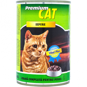 CAT Premium-cons.pt pisici 415g iepure