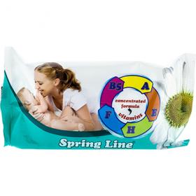 Spring Line servetelele umede cu ulei de masline – 72 buc.