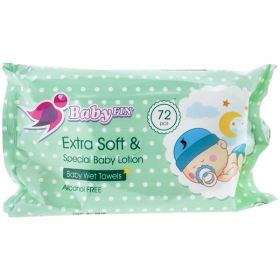 Baby fin servetelele umede Sensitive – 72 buc.