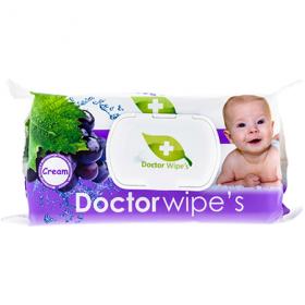 Doctor Wipe's servetelele umede struguri cu capac – 60 buc.