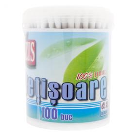 Bețișoare ORL Izis 100% bumbac - 100buc