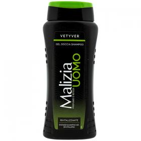 Malizia Vetyver gel duș și sampon pentru bărbați - 250ml