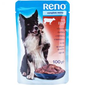 Reno hrană umedă cu vita pentru câini - 100 gr