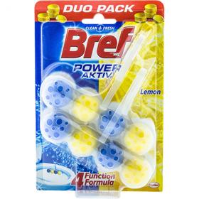 Bref Power Aktiv Lemon odorizant pentru vasul de toaletă – 2x50 g