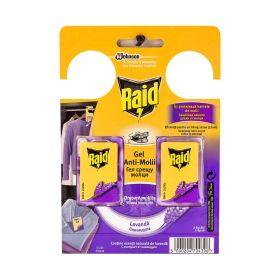 Anti-molii gel Raid cu lavanda - 2buc