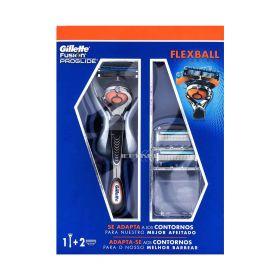 Aparat de ras Gillette Fusion Proglide Flexball și 2 lame rezervă