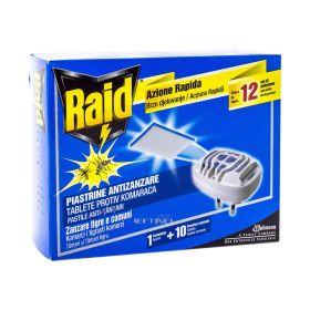 Aparat electric Raid împotriva țânțarilor + 10 pastile laminate - 1set