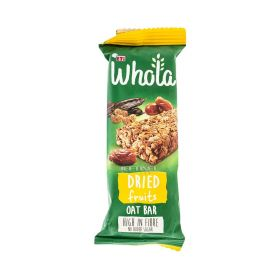 Baton de cereale Whola Dried Fruits cu ovăz - 35gr