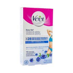 Benzi depilatoare Veet Easy Gel pentru bikini și axilă - 16buc