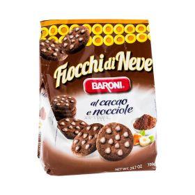 Biscuiți Baroni Fiocchi di Neve cu cacao și alune - 700gr