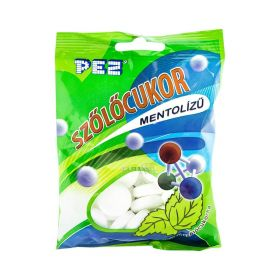 Bomboane de glucoză Pez Szőlőcukor cu mentol - 80gr