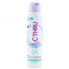 C-Thru In action 0% deodorant spray pentru femei - 150ml