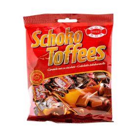 Caramele moi cu ciocolată Bon Sweet Bon Schoko Toffies - 100gr