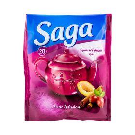 Ceai Saga cu guste de prune și scorțișoară - 20x1.5gr