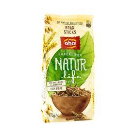 Cereale sticks din tărâță și grâu integral Oho Natur Bran Sticks 175gr