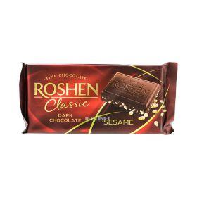 Ciocolată Roshen Clasic Dark Chocolate cu susan - 90gr