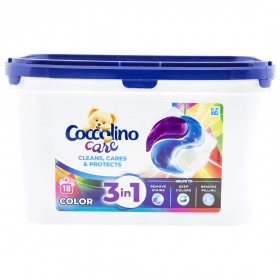 Coccolino Color 3in1 detergent capsule - 18x27gr