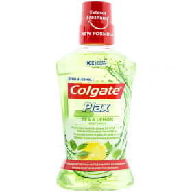 Colgate-apa de gura 500ml plax tea-lemon
