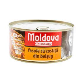 Conservă de fasole cu costiță Moldova în bucate - 300gr
