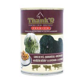 Conservă pentru câini ThankQ cu carne de vită - 415gr