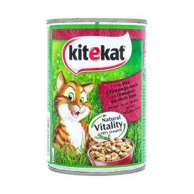 Conservă pentru pisici KiteKat vită - 400gr