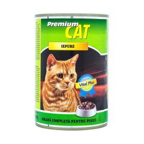 Conservă pentru pisici Premium Cat cu gust de iepure - 415gr