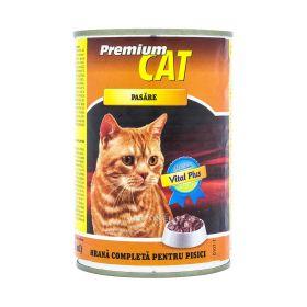 Conservă pentru pisici Premium Cat cu gust de pasăre - 415gr