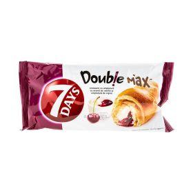 Croissant 7Days Double Max cu cremă de vanilie ș vișine - 80gr