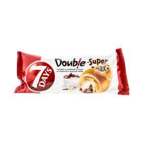 Croissant 7Days Double Super Max cu cremă de cacao și vanilie - 110gr