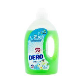 Detergent lichid de rufe Dero Iris alb 2în1 (20 spălări) - 1L