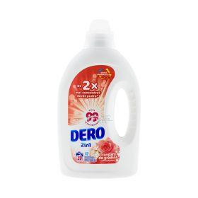 Detergent lichid de rufe Dero Trandafir 2în1 (20 spălări) - 1L