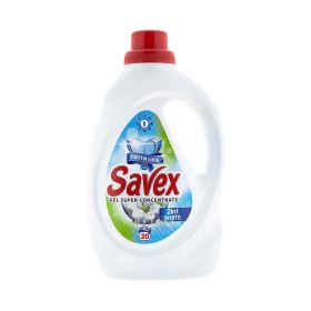 Detergent lichid de rufe Savex White 2în1 (20 spălări) - 1.1L
