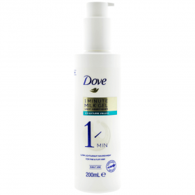 Dove 1 Minute Milk Gel Weightless Volume balsam pentru păr subțire - 200ml